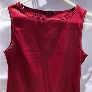 Eyeshadow. Deep burgundy wine tank top